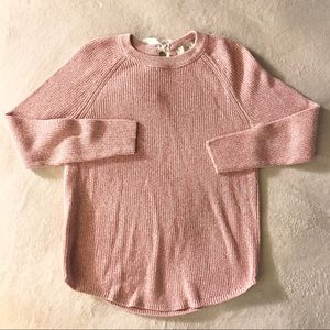 LOFT Sweater Pink with bow size M